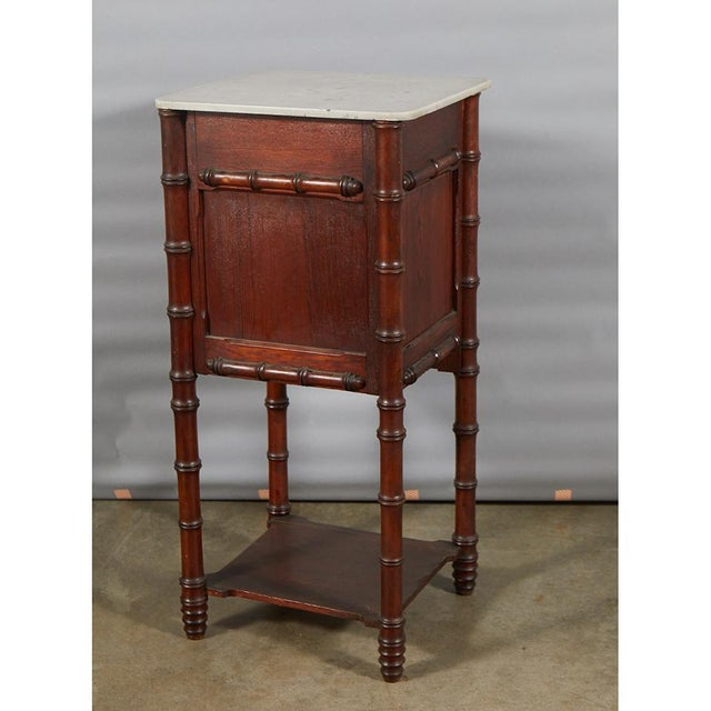 Late 19th Century Faux Bamboo Nightstand For Sale - Image 5 of 8
