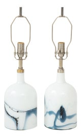 Image of Newly Made Blown Glass Table Lamps