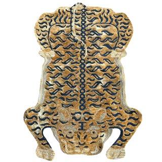 Modern Tibetan Tiger Wool Rug - 4' X 6' For Sale