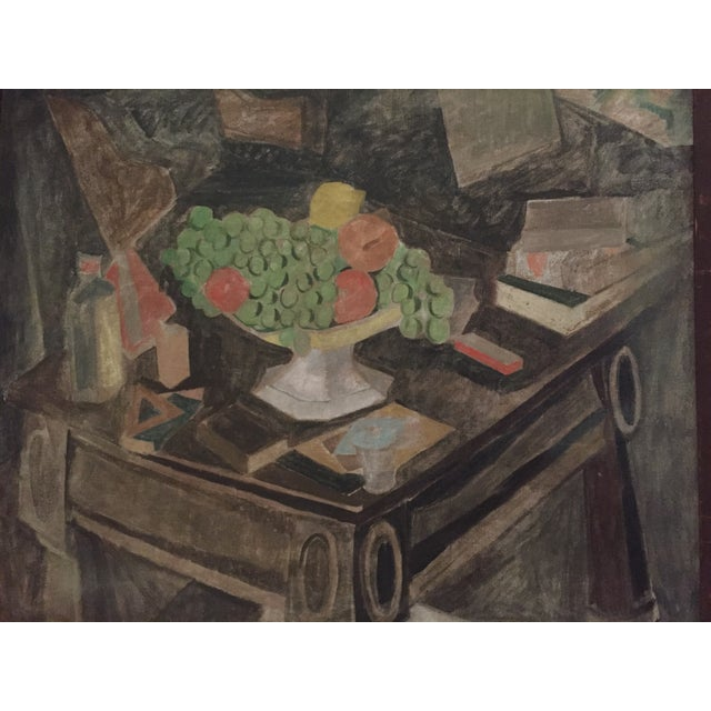 Brown 1930s Earl Horter Cubist Oil Painting For Sale - Image 8 of 10