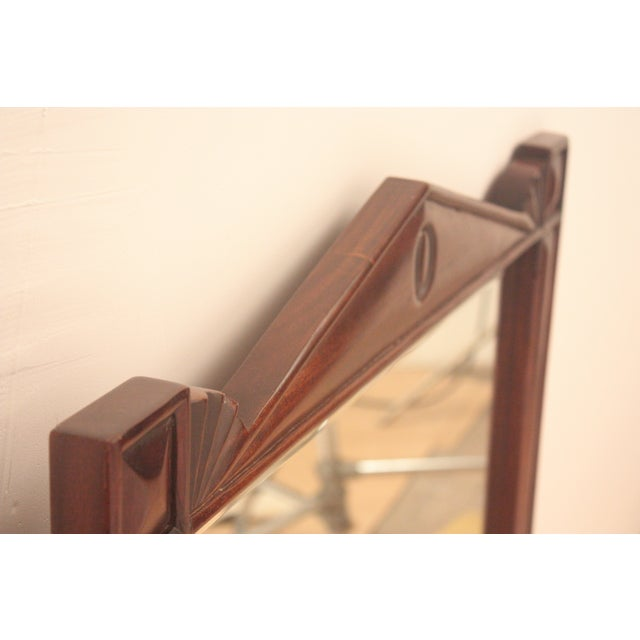 Pediment Detail Beveled Mirror For Sale - Image 7 of 11