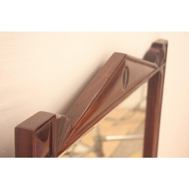Pediment Detail Beveled Mirror - Image 7 of 11