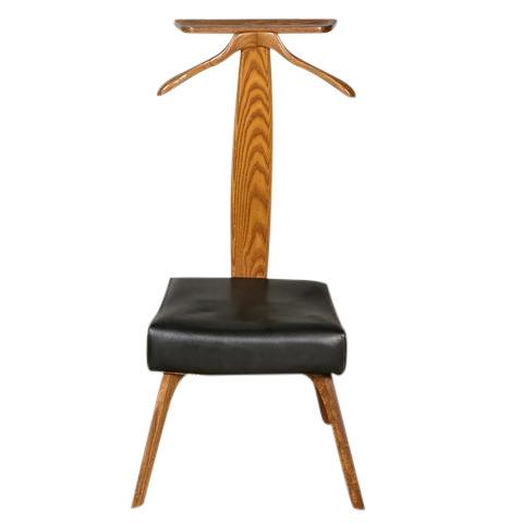 1960s Vintage Wood & Vinyl Men's Valet - Vintage & Used Valet Stands & Chairs Chairish