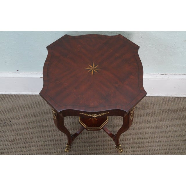 Maitland Smith Louis XV Style Brass Ormolu Side Table - Image 9 of 10