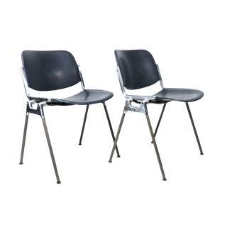 1970s Italian Giancarlo Piretti Castelli Dsc 106 Chairs - a Pair