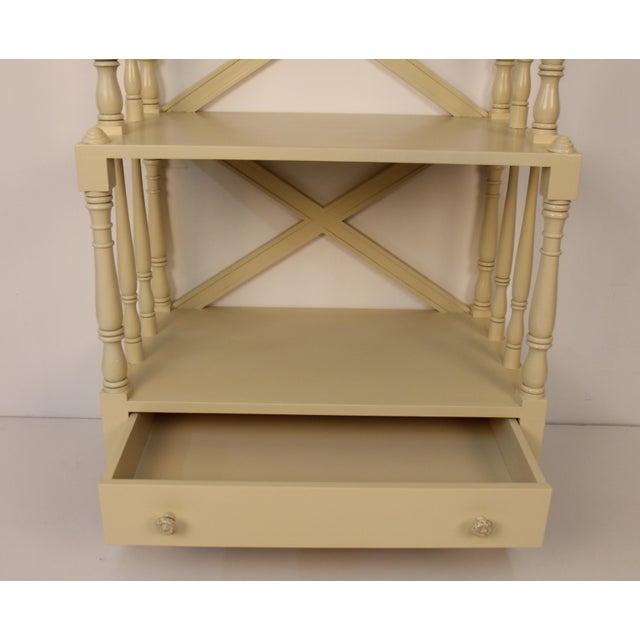 Regency Style Painted 5-Tier Etagere For Sale - Image 4 of 6