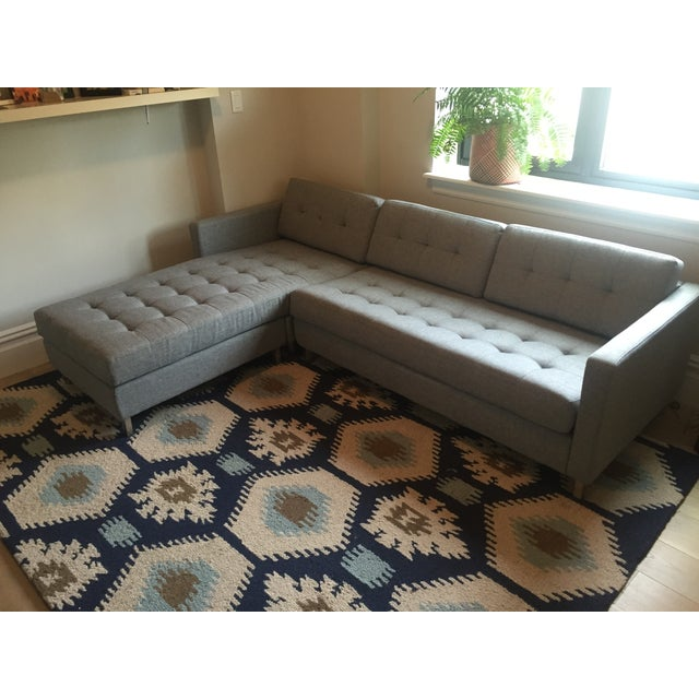 Brand new, barely used CB2 Ditto II Gray Sectional Sofa. Excellent for small spaces. My husband and I purchased this new...