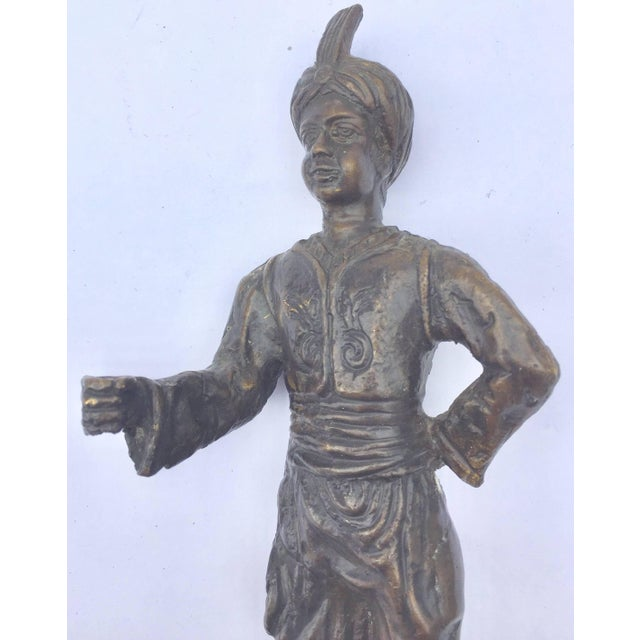 Orientalist Patinated Bronze Figure of a Turkish Young Man For Sale - Image 11 of 13