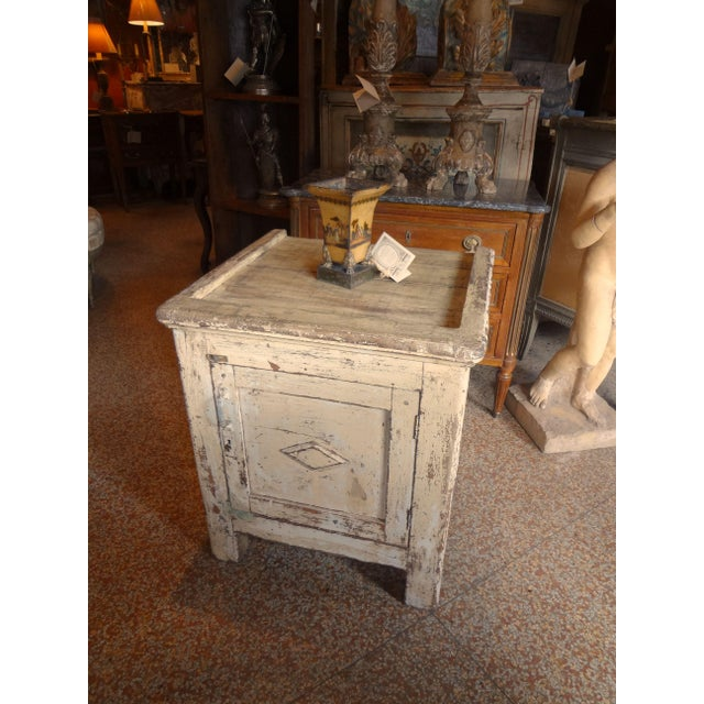 Late 19th Century Rustic French One Door Cabinet For Sale - Image 11 of 12