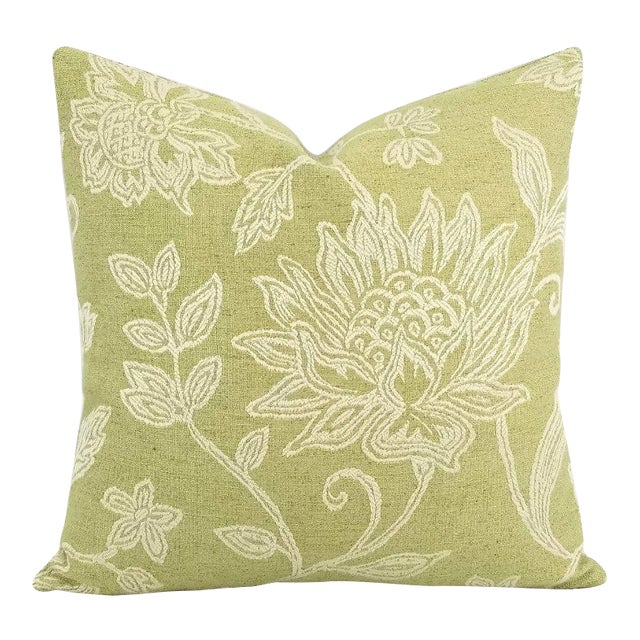 Colefax and Fowler Kenrick Floral Jacquard Pillow Cover For Sale