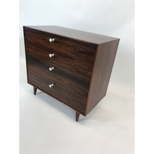 1950s 1950s George Nelson Herman Miller Thin Edge Rosewood Chest of Drawers For Sale - Image 5 of 13