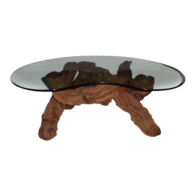 cypress root driftwood coffee table for sale - Driftwood Coffee Tables For Sale