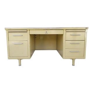 Industrial Steelcase Desk