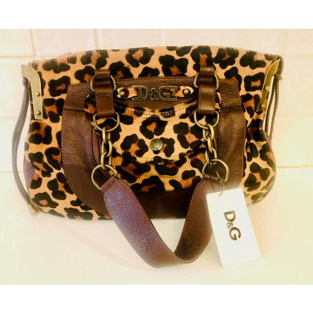Dolce & Gabbana D & G Leopard Fur Satchel Purse For Sale In New York - Image 6 of 10