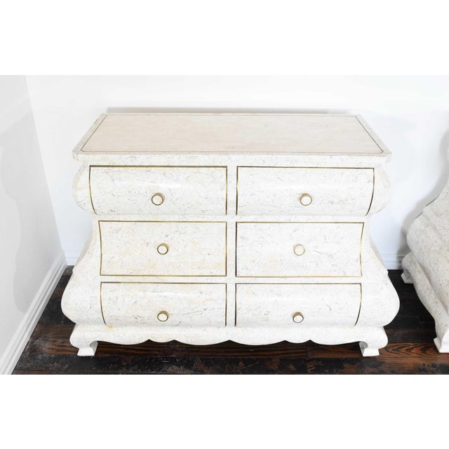 Maitland - Smith Maitland Smith Tessellated Marble Bombe Chests - A Pair For Sale - Image 4 of 10