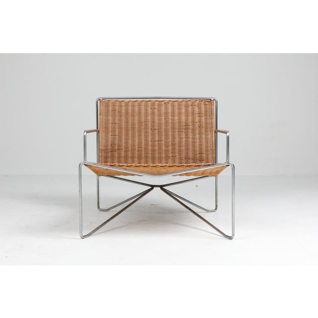 Brown Rattan and Steel Armchairs Gelderland, 1964 - a Pair For Sale - Image 8 of 13