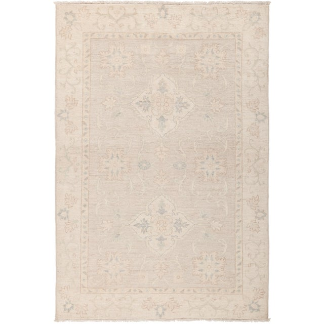 "Oushak Hand Knotted Area Rug - 4' 0"" x 5' 10"" - Image 4 of 4"