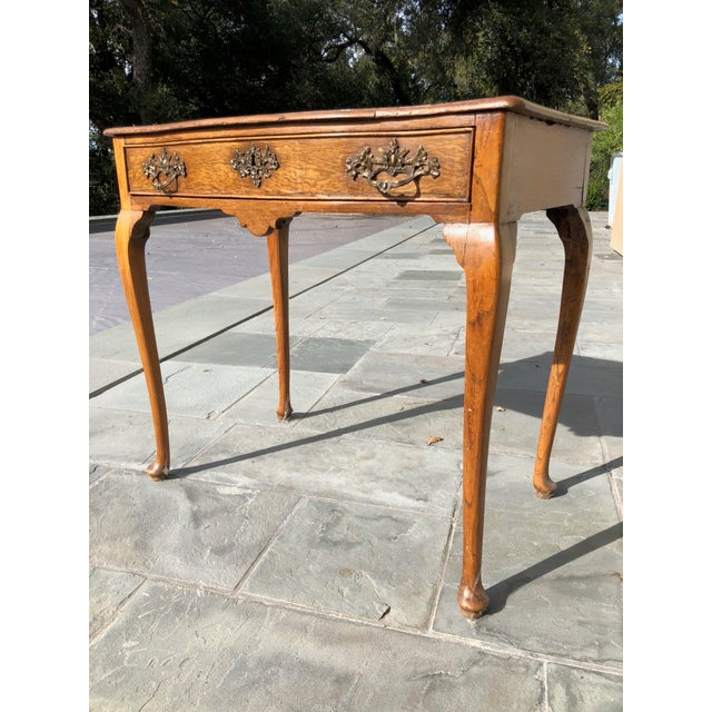 Wood Antique English Side Table For Sale - Image 7 of 7