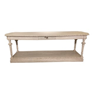 Mid 19th Century White Console Table For Sale