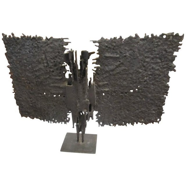 Brutalist Mid-century Bronze, T. Mori Untitled 1962 For Sale - Image 5 of 5