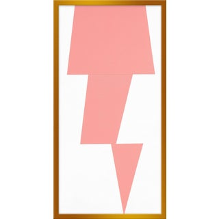 "Medium ""Pink Jagged"" Print by Jason Trotter, 16"" X 31"" For Sale"