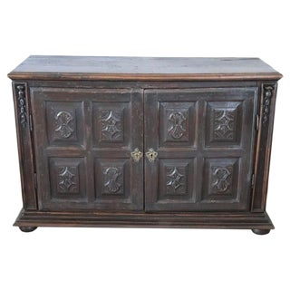17th Century Italian Walnut Wood Large Rustic Sideboard, Buffet or Credenza For Sale
