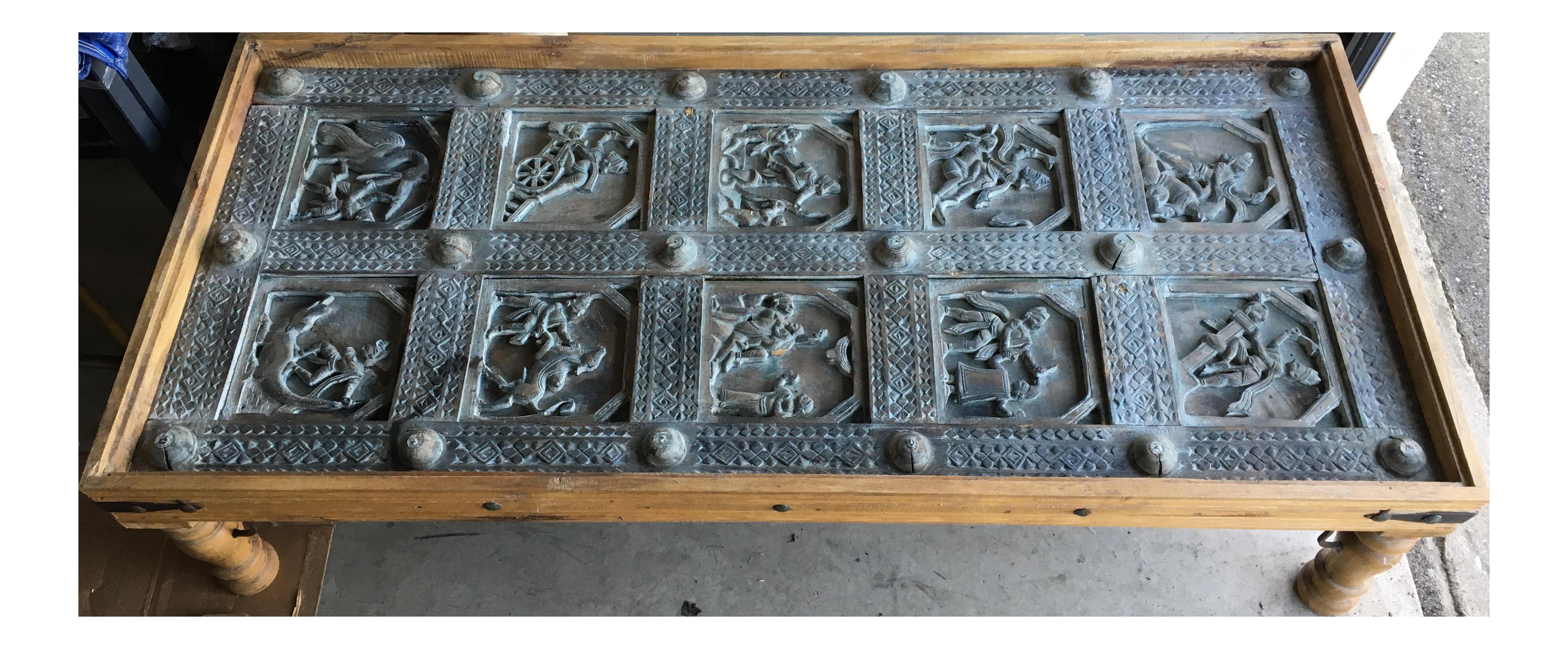 Old Indian Door Coffee Table Chairish