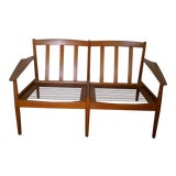 Image of Mid-Century Modern Scandinavian Teak Loveseat For Sale