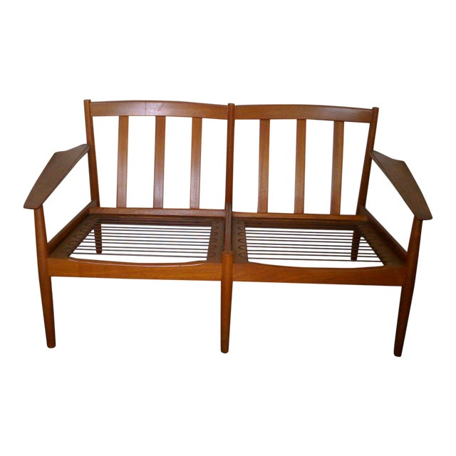 Mid-Century Modern Scandinavian Teak Loveseat For Sale