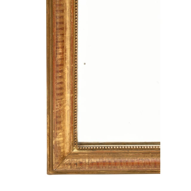 Glass Louis Philippe Period Gold Leaf Mirror For Sale - Image 7 of 10