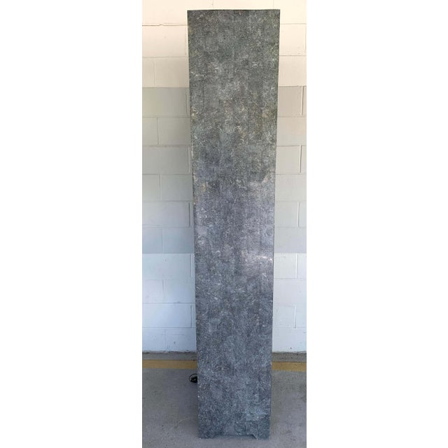 Modern Tessellated Stone Monolithic Bookcase / Vitrine For Sale - Image 11 of 13