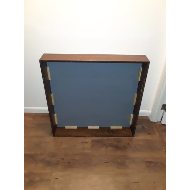 Mid-Century Modern Wood Framed Mirror For Sale - Image 4 of 10