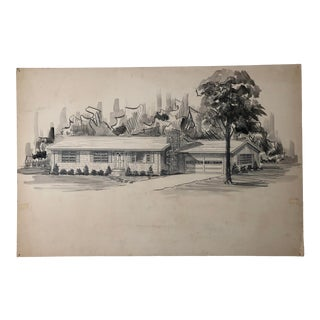 Large Mid-Century Architectural Design 1950s For Sale