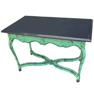 Belgian Marble and Faux Tortoiseshell Center Table For Sale