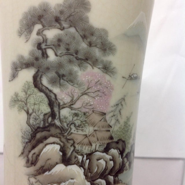 Japanese Arita Hand-Painted Porcelain Vase For Sale In Dallas - Image 6 of 7