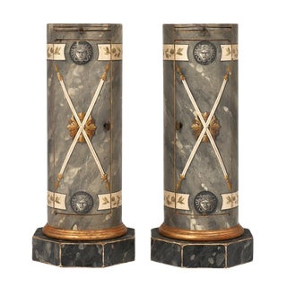 """Italian Painted """"Somno"""" Columns For Sale"""