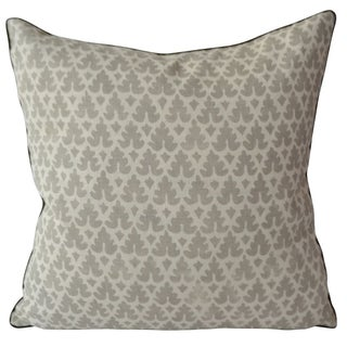 Quadrille Volpi Gray Pillow For Sale