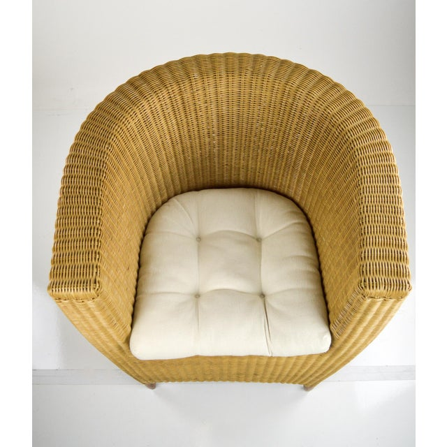 Brown Mid-Century Modern Wicker Tub Chairs - Pair For Sale - Image 8 of 11