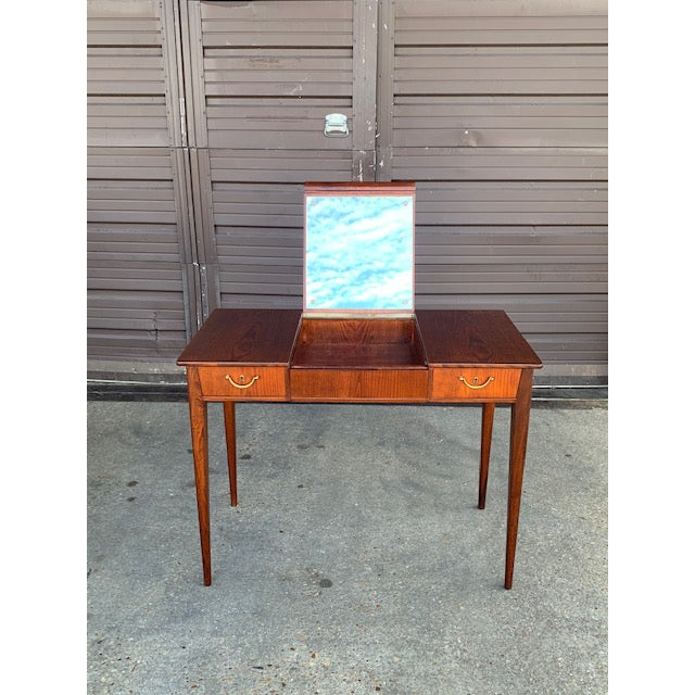 Brown Swedish Mid-Century Modern Vanity by David Rosen for Nk Stockholm, Circa 1950 For Sale - Image 8 of 12