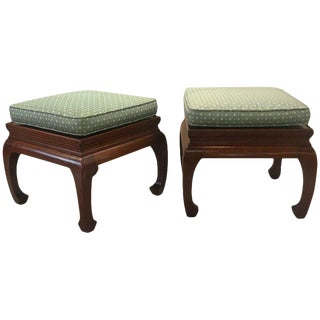 1970s Vintage Asian Style Benches or Stands- A Pair For Sale