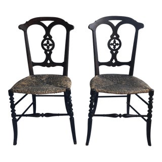 Antique Side Chairs- A Pair For Sale
