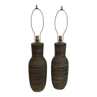 1960s Design Technics Ceramic Lamps by Lee Rosen - a Pair For Sale