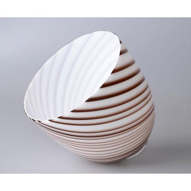 1960s Original Tommaso Barbi Italian Murano Decorative Bowl / Vase For Sale - Image 5 of 10