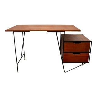 Vista of California Mid Century Iron and Mahogany Desk For Sale