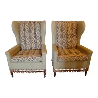 Early 20th Century Restored Bohemian Wingback Chairs - A Pair For Sale