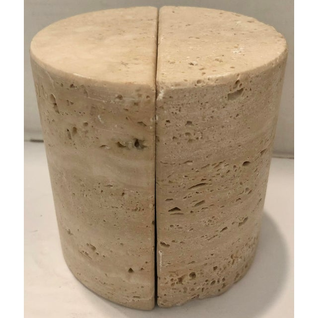 Stone Italian Travertine Bookends For Sale - Image 7 of 7