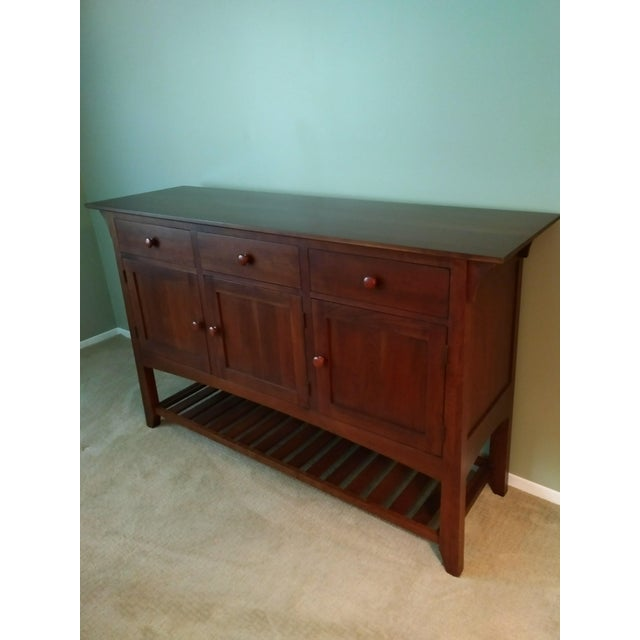 Arts & Crafts Ethan Allen American Impressions Cherry Buffet For Sale - Image 3 of 8