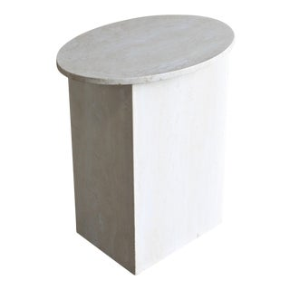 Travertine Pedestal Circa 1975 For Sale