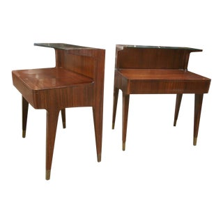 Gio Ponti Nightstands, 1958 For Sale