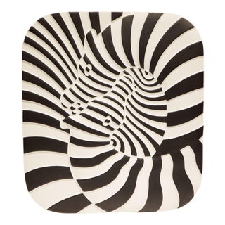 Victor Vasarely Op Art Plaque for Rosenthal For Sale
